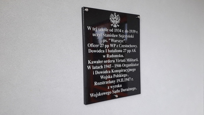 """Tablica Stanisława Sojczyńskiego """"Warszyca"""""""