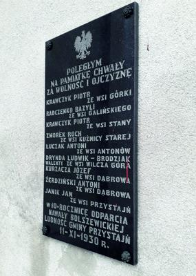 Tablica pamięci poległych w nawale bolszewickiej