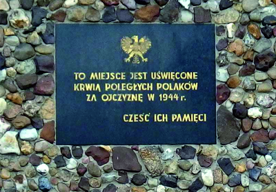 Tablica w Kamińsku