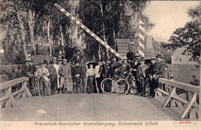 Prusko-rosyjskie przejście graniczne w Podłężu Szlacheckim (1907 r.)
