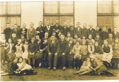 Szkoła w Borze Zajacińskim - chór (1935 r.)