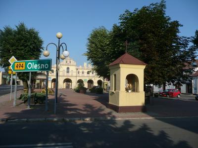 Rynek w Przystajni (2000 r.)