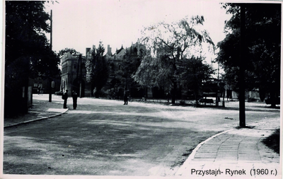 Rynek w Przystajni (ok.1960 r.)