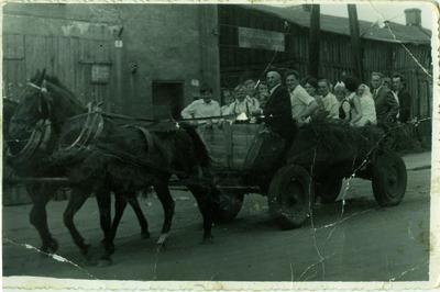 Stara remiza w Przystajni (lata 60-te)